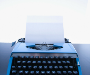 Fun with words... a blank page. Blog article by CL Charlesworth, fiction writer