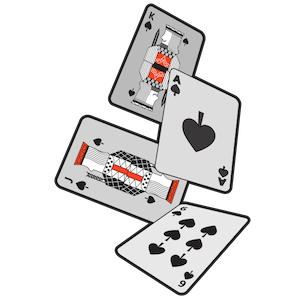 Too many cards in the deck, may 2019 blog, image of 4 playing cards