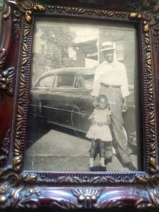 Author Cheryl Charlesworth as a young girl with her father
