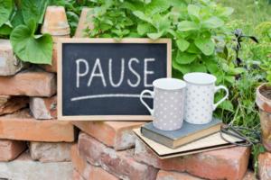 pause to break a break from writing